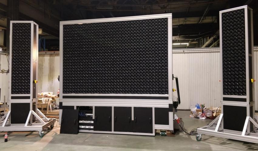 windshaper 12x8 modules (3m x 2m) with 864 wind-pixels