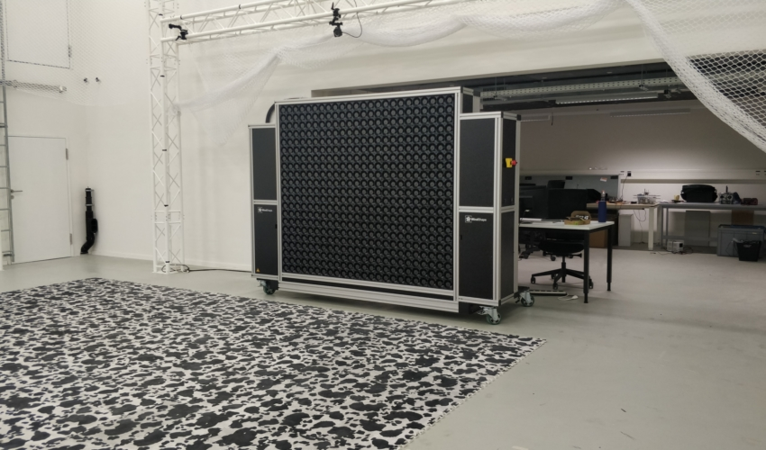 windshaper 8x7 modules (2m x 1.75m) with 504 wind pixels - test volume