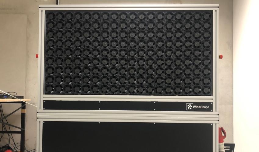 windshaper 6x3 modules (1.5m x 0.75m) with 162 wind pixels - front view