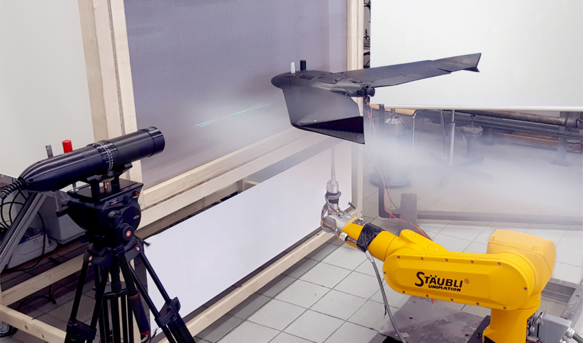fixed wing drone aerodynamics - wind tunnel testing of a senseFly ebee drone